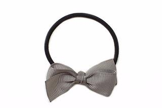 Small Bow Elastic - Grey