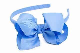 Bow Headband Capri Blue