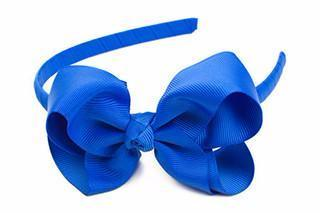 Bow Headband Electric Blue