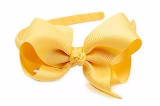 Bow Headband Yellow Gold