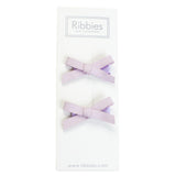 Suede Schoolgirl Bow Pair in Lilac