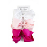 Extra Large Hair Bows - Pink-Set of 3