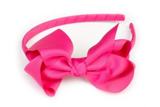 Bow Headband Hot Pink