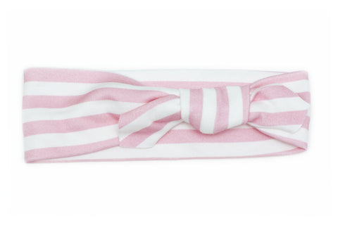 Organic Cotton Headband Pink Stripes
