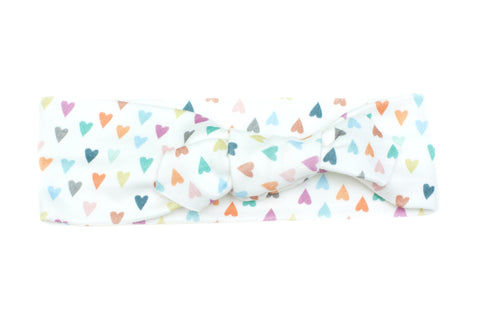 Organic Cotton Headband Hearts