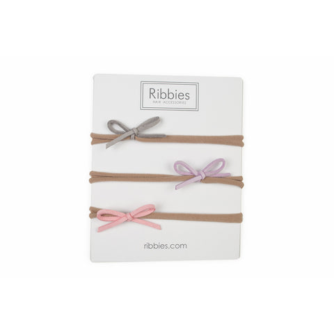 Newborn Nylon Headband Set - Pastel