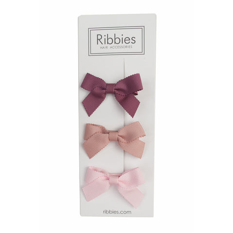 Lauren Bow Set of 3 - Rose