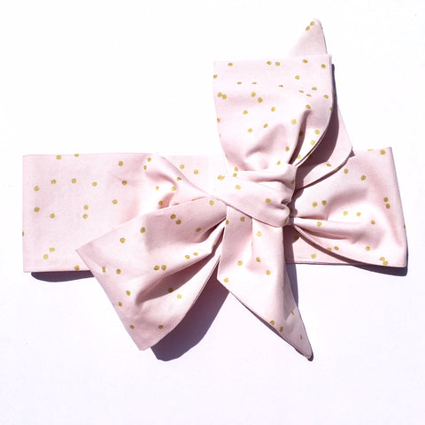Gold Dots on Light Pink Pattern Headwrap