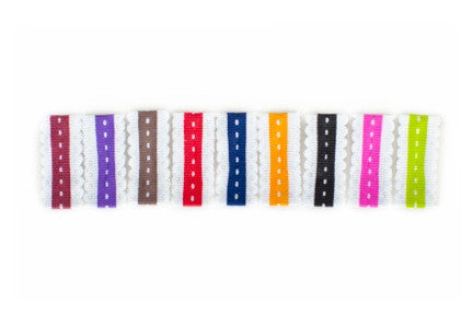 Scalloped Snap Clip Set of 9