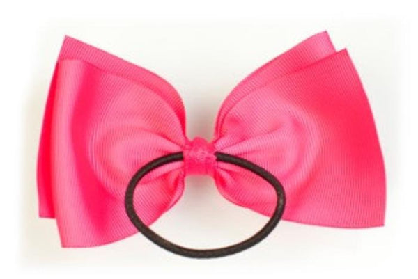 Small Bow Elastic - Shocking Pink