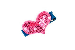 Sparkle Heart Hot Pink