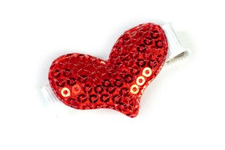 Sparkle Heart Red