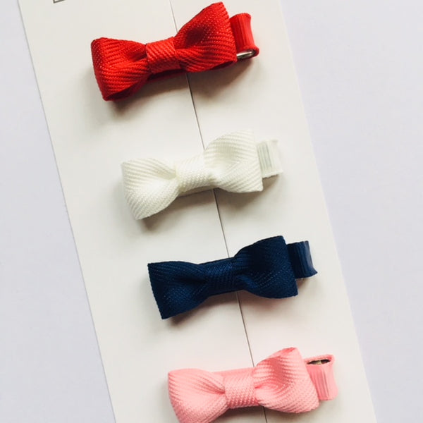 Set of 4 Baby Bows - Classic