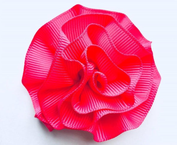 Large Carnation Hair Clip Hot Pink