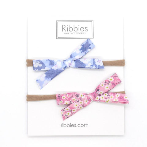 Nylon Baby Headband Liberty Bow Set of 2 - Mitsi