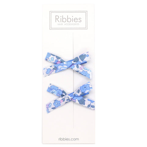 Liberty of London Schoolgirl Bows - Betsy Blue