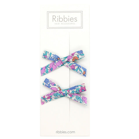 Liberty of London Schoolgirl Bows - Poppy & Daisy Bright