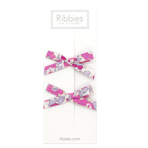 Liberty of London Schoolgirl Bows - Betsy Hot Pink