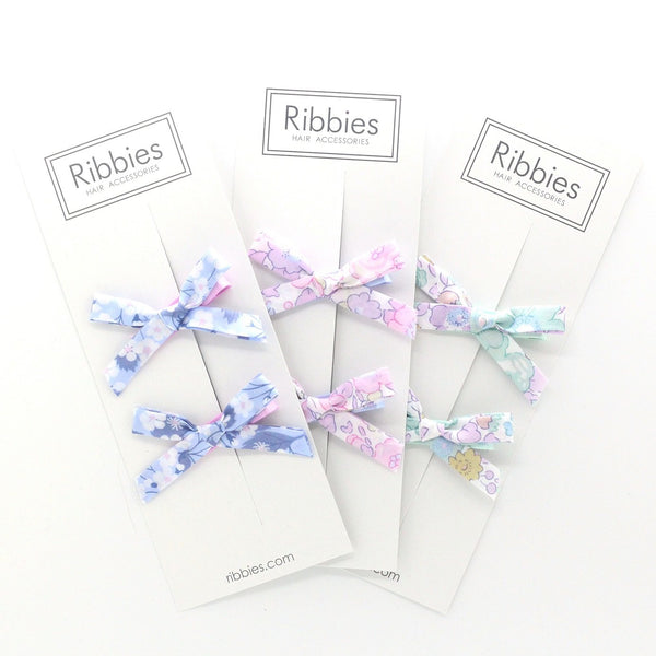 Liberty of London Schoolgirl Bows - Betsy Pastel Pink
