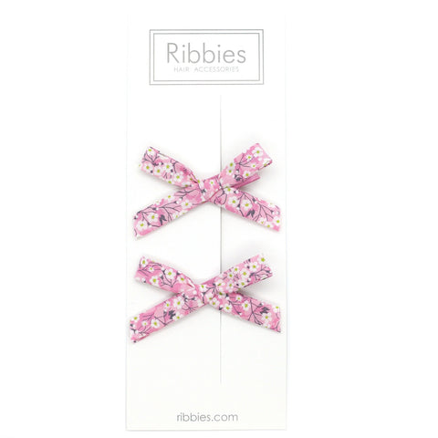 Liberty of London Schoolgirl Bows - Mitsi Pink