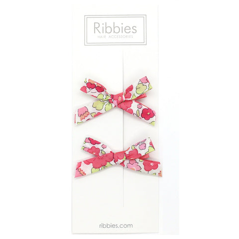 Liberty of London Schoolgirl Bows - Betsy Red