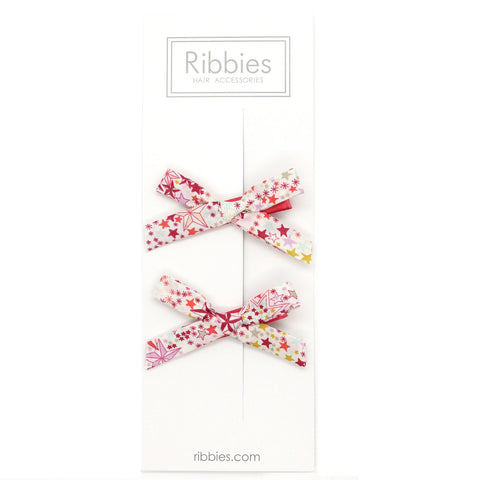 Liberty of London Schoolgirl Bows - Adeladja Red