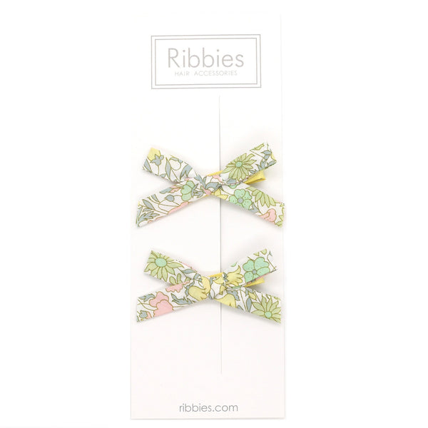 Liberty of London Schoolgirl Bows - Poppy & Daisy Pastel