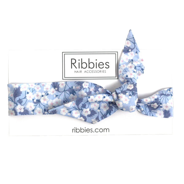 Bow Headband - Liberty - Mitsi Blue