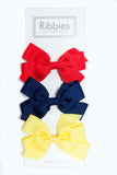 Set of 3 Medium Bows - Bright