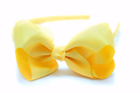 Bow Headband Lemon