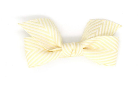 Thin Chevron Hairbow Cream