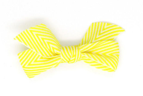 Thin Chevron Hairbow - Yellow