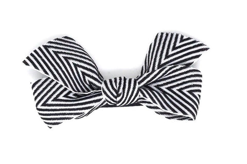 Thin Chevron Hairbow Black