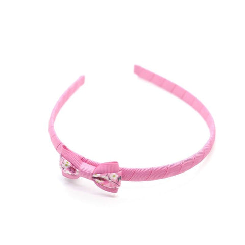 Pink Small Bow Headband - Liberty Mitsi Rose