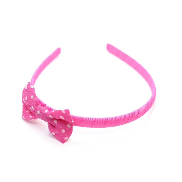 Polkadot Bow Headband - Pink on Pink
