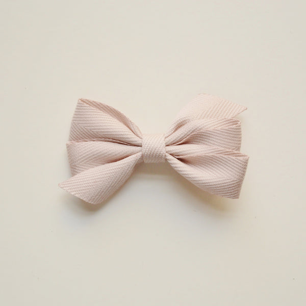 Medium Triple Bow Hair Clip - Beige
