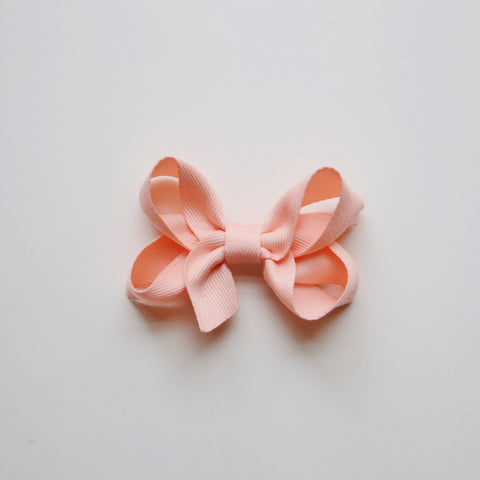 Medium Looped Hair Bow - Peach
