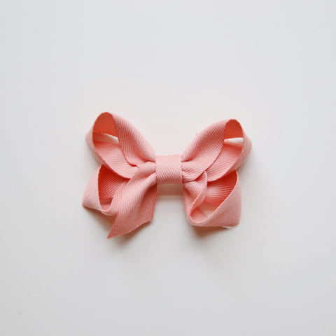 Medium Looped Hair Bow - Peony Pink