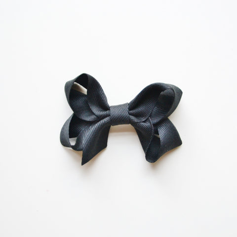 Medium Looped Hair Bow - Black