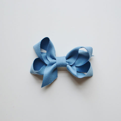 Medium Looped Hair Bow - French Blue