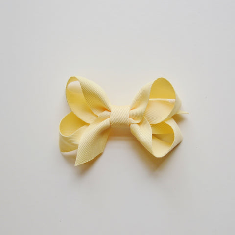 Medium Lopped Hair Bow - Yellow