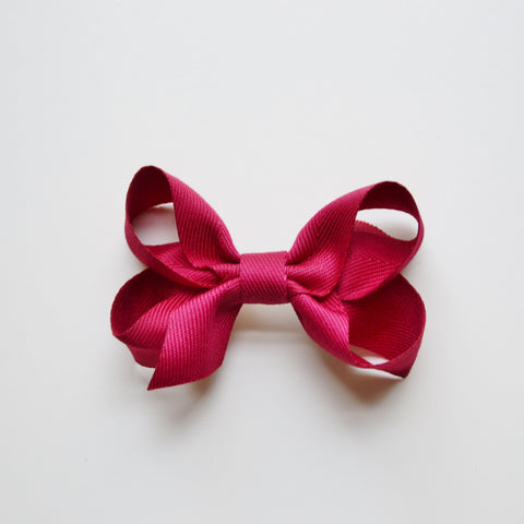 Medium Looped Hair Bow - Burgundy