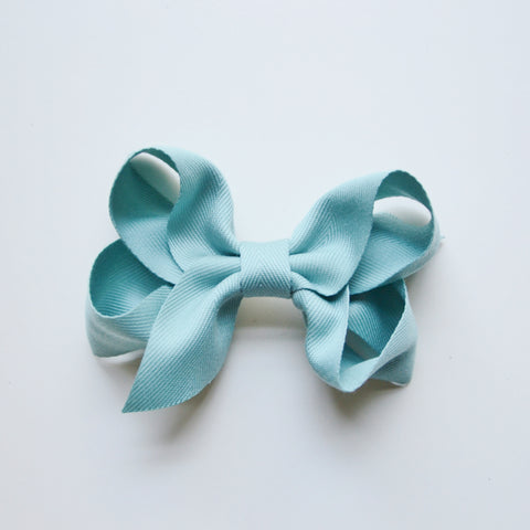 Extra Large Hair Bow - Aqua