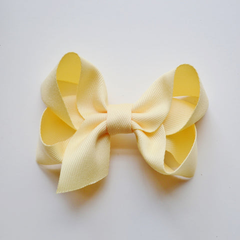 Extra Large Hair Bow - Light Yellow