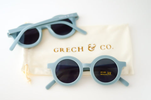 Sustainable Kids Sunglasses - Light Blue