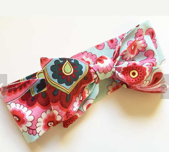 Fabric Bow Floral Headwrap