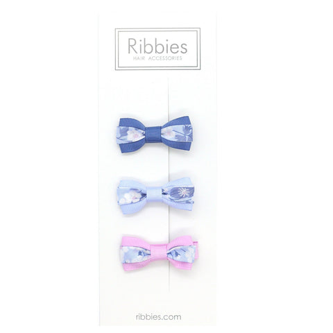 Set of 3 Liberty Bows - Mitsi Blue
