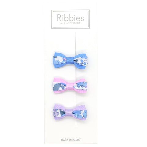 Set of 3 Liberty Bows - Betsy Blue