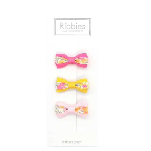 Set of 3 Liberty Bows - Wiltshire Lemon Curd