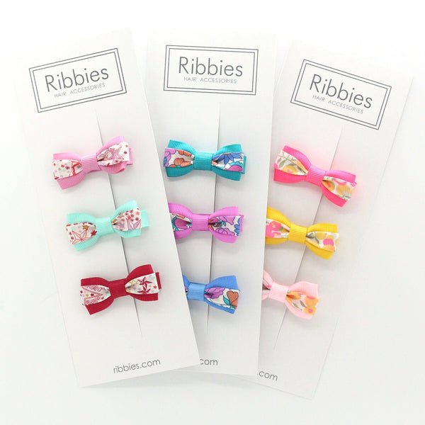 Set of 4 Liberty Bows - Mitsi Valeria Blue